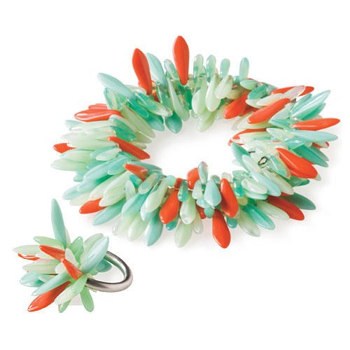 Summer Style Gifts: For Her: Howard Fringe Bracelet and Petal Ring