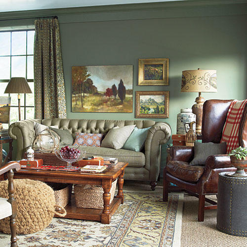 Southern Living Room: Green Decorating Ideas