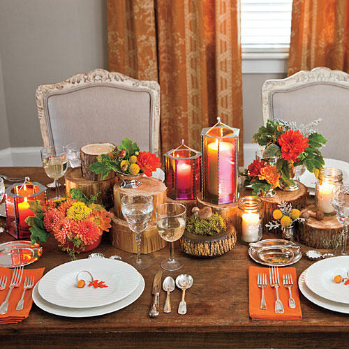 Thanksgiving Table Decorating: Natural Thanksgiving Table Decoration Ideas