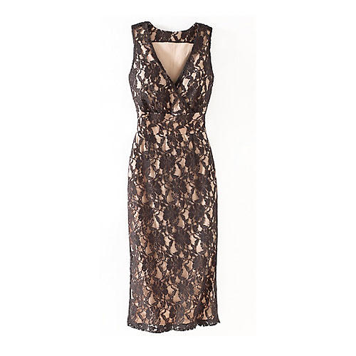 Sleeveless Lace Sheath Dress by Newport News