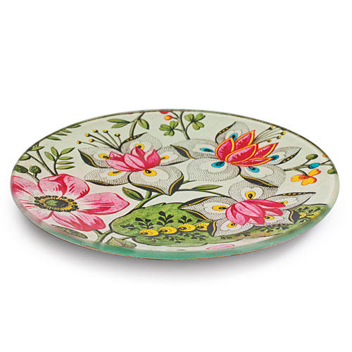 Christmas Holiday Gift Ideas: Wallpaper Round Decoupaged Plate