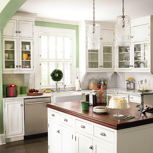 Southern Living Kitchens Ideas: Green Decorating Ideas