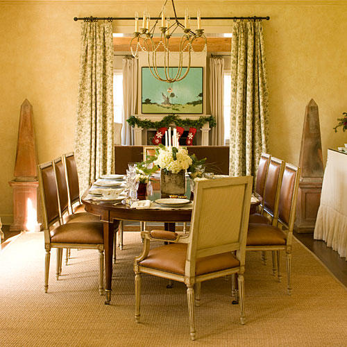 Stylish dining room decorating ideas southern living - Dining room living room separation ...