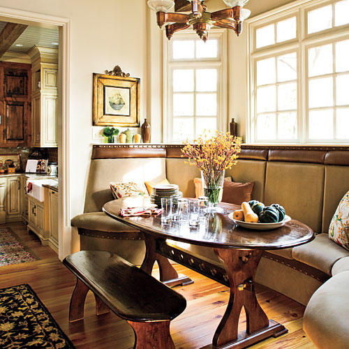 rustic dining room sets wood repeat lines cover your chairs stylish dining room decorating ideas southern living