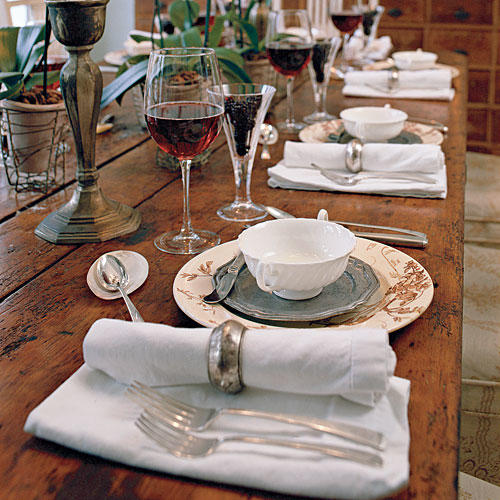 Skip the Table Cloth & How To Set a Stunning Table - Southern Living