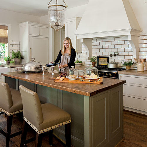 stylish kitchen island ideas southern living rh southernliving com open kitchen with large island kitchen with large island bench