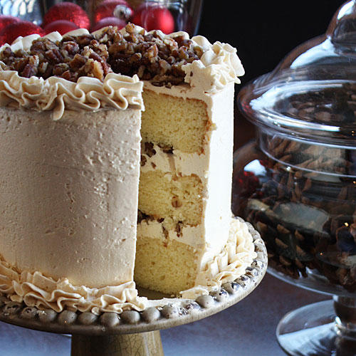 Holiday Butter Pecan Cake
