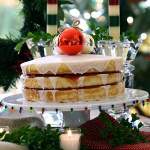 Plain & Fancy Holiday Cake