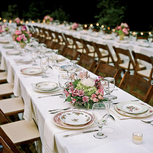 Wedding table ideas southern living vintage china settings junglespirit Image collections