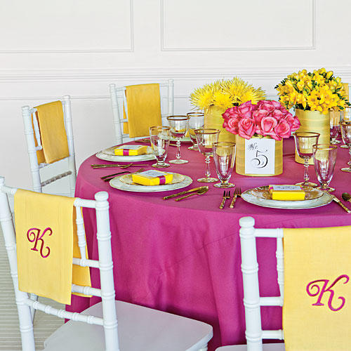 Southern Wedding Reception Food: Bridal Luncheon Ideas: Showered In Color