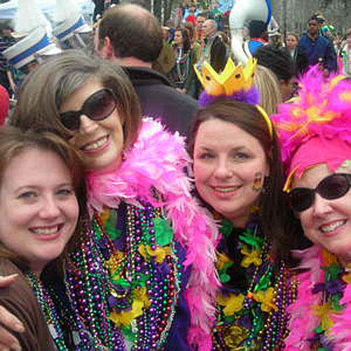 Mardi Gras Beauties Get the Beads Everytime