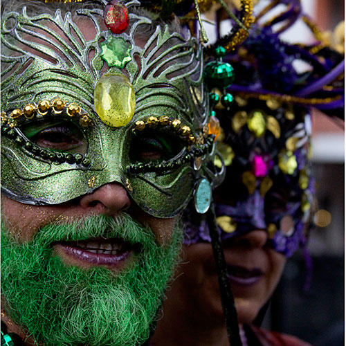 Faces of Mardi Gras
