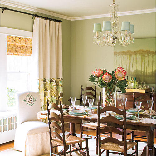 Farrow Ball Mizzle Walls In Our Dining Room: Green Decorating Ideas