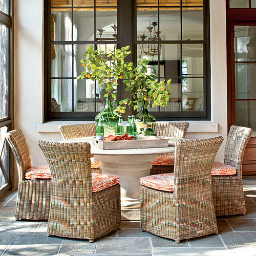 Beach House Outdoor Dining Room - Bright Outdoor Dining Ideas - Southern Living