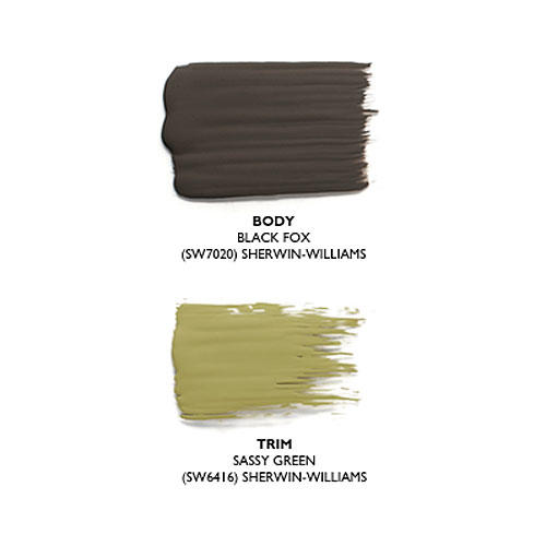 How to pick the right exterior paint colors southern living - Sherwin williams black fox exterior ...