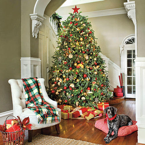 Amazing Red U0026 Gold Christmas Tree Photo Gallery