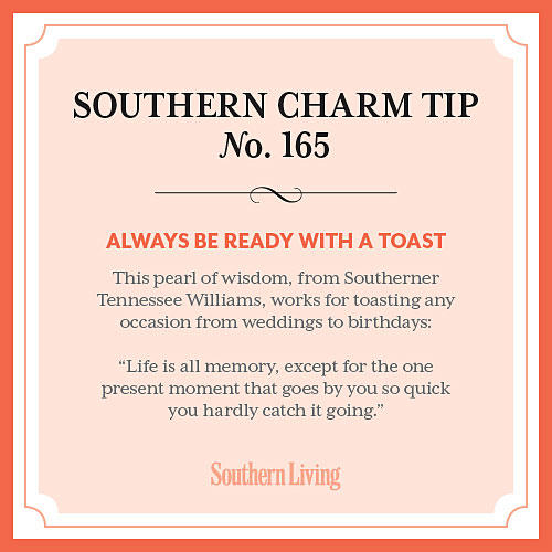 Tip #165: Always be ready with a toast