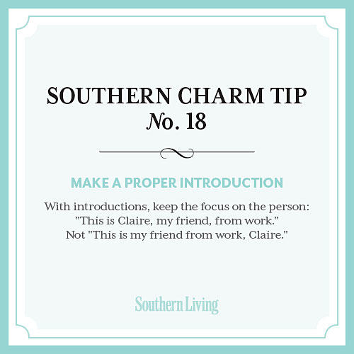 Tip #18: Make a proper introduction