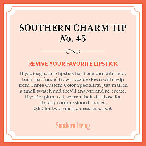 Tip #45: Revive your favorite lipstick