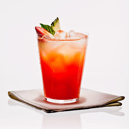 Strawberry Basil Pineapple Ade