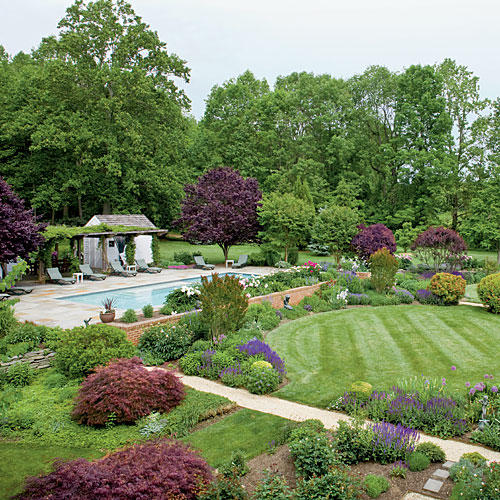 The south 39 s best gardens southern living for Best garden pools