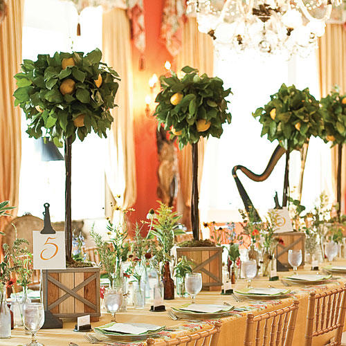 Southern Wedding Decoration Ideas: Wedding Table Centerpieces