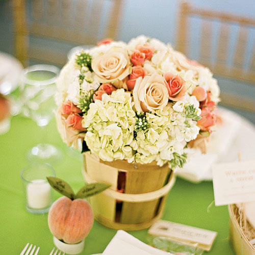 Pretty Peach Centerpiece