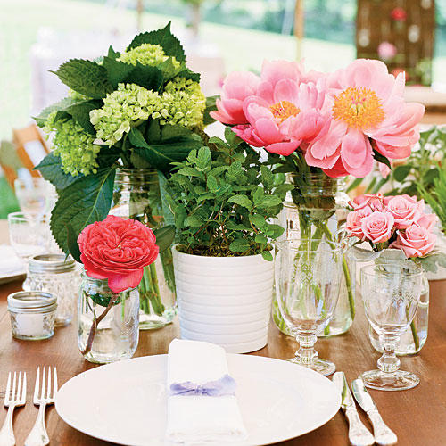 Wedding table centerpieces southern living