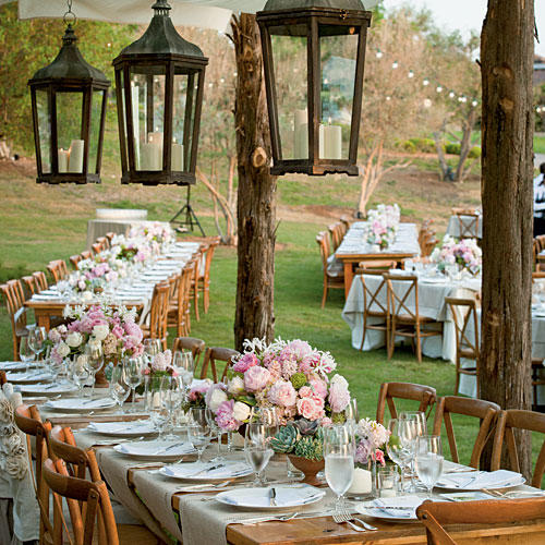 Idyllic Pink and White Centerpiece