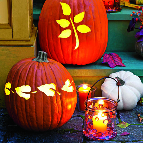Illuminating Pumpkin Display