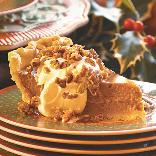 1310 Pumpkin Pie with Maple Cream and Sugared Pecans Pumpkin Pie Recipes