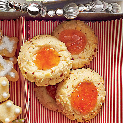Apricot-Almond Thumbprint Cookies