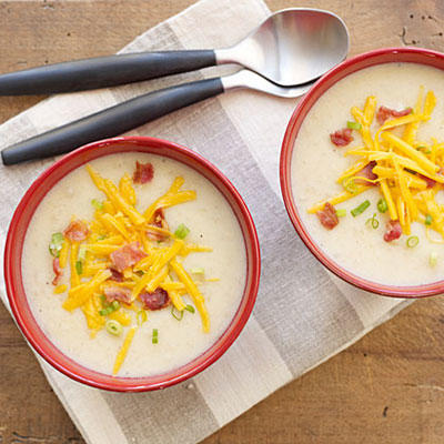 Slow-Cooker Loaded Potato Soup Recipe
