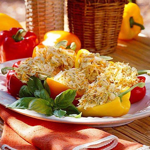 Carrot-and-Cabbage Stuffed Peppers