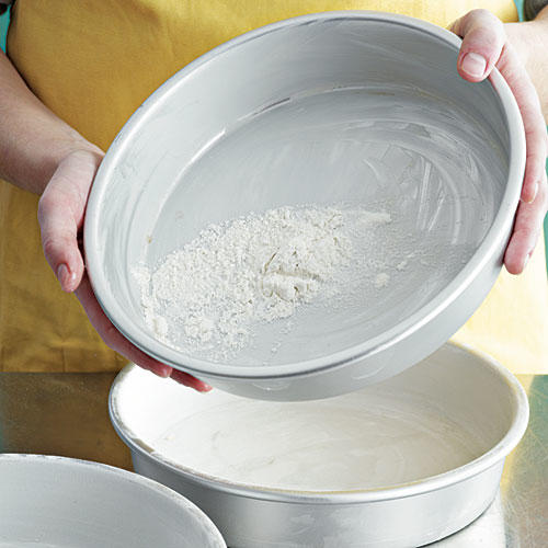 Step 7: Lightly Coat Pans with Flour
