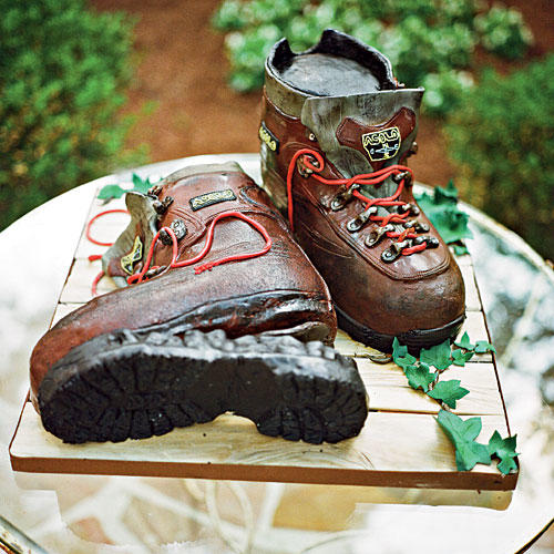 Hiking Boots Cake