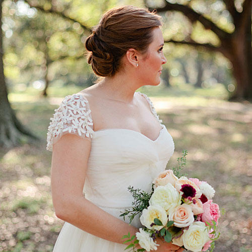 Gorgeous cap sleeve wedding dresses southern living beaded sleeve gown junglespirit Choice Image