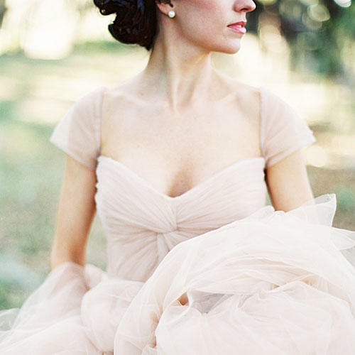 Tulle Sleeve Gown