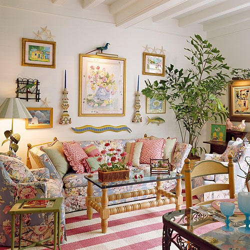 Chintz a southern decorating classic southern living for Classic house 1988