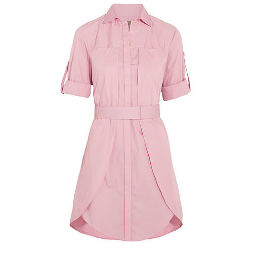 Layered Stretch-Cotton Shirt Dress