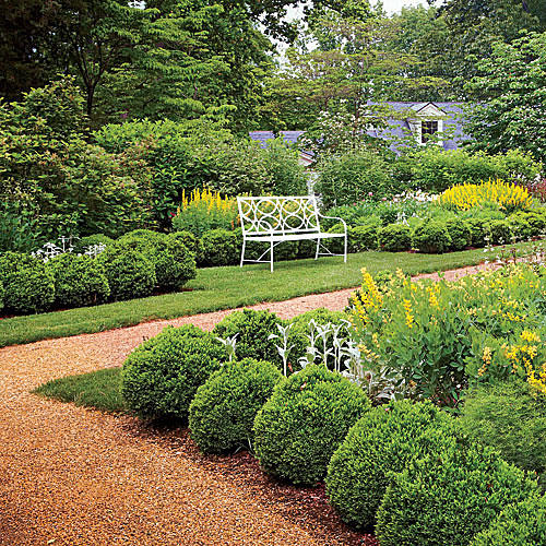 Classical Boxwood Garden Path