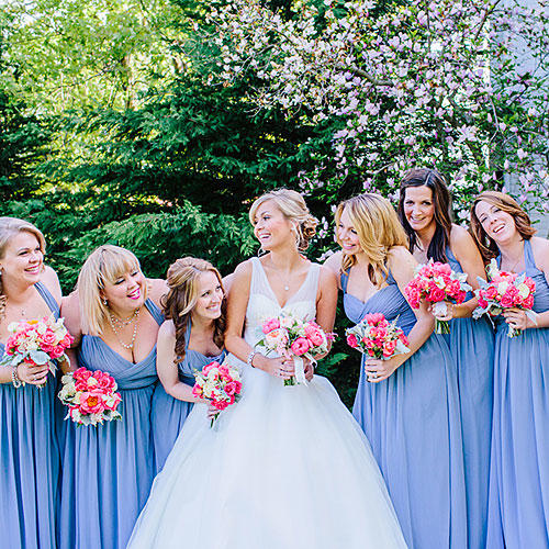 Bridesmaid Dresses in Periwinkle