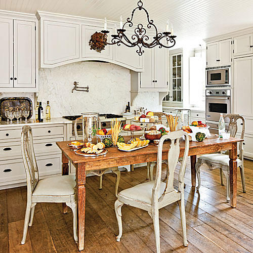 12 Essential Ingredients For A French Provincial Kitchen: Simply Beautiful Farm Tables