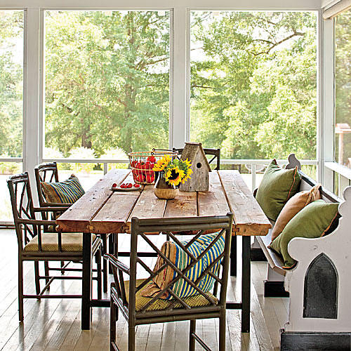 Simply beautiful farm tables southern living for Country living 500 kitchen ideas style function charm