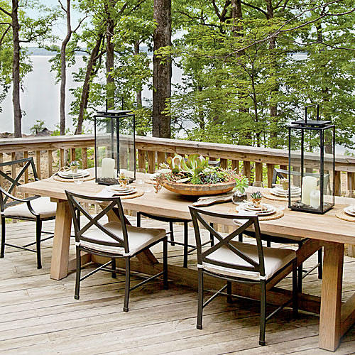Nature-Inspired Lakeside Table