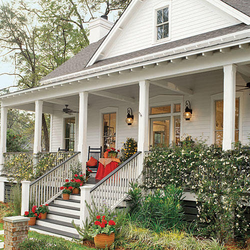 17 house plans with porches southern living - Two story holiday homes ...