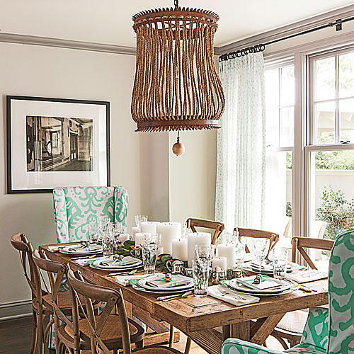 Colonial Dining Rooms Center Hall Colonial Kitchen Room: Simply Beautiful Farm Tables