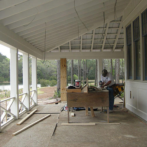 Palmetto Bluff Back Porch Before
