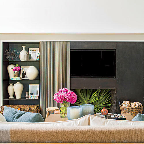 Palmetto Bluff Living Room Fireplace After