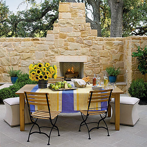 Courtyard Outdoor Fireplace